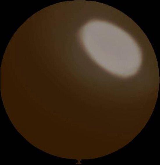 50 stuks - Decoratieballonnen chocolate 30 cm professionele kwaliteit