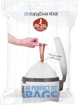 Brabantia Perfect Fit Afvalzakken - 20/25 l - Code J  - 40 stuks
