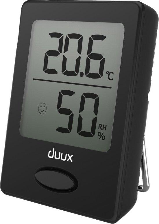 Duux Sense Hygrometer + Thermometer Zwart - Batterij - Magneetbevestiging