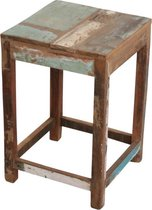 Raw Materials  Scrapwood Bijzettafeltje – Krukje – 30x30cm – Gerecycled hout