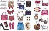 Set van 3 Stickervellen Fashion | Stickers voor Bullet Journals
