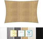 Rechthoekige luifel van Lumaland incl. spankoorden|polyester met dubbele pu-laag | Rechthoekig 3 x 4 | 160 g/m²
