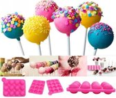 Siliconen Cakepop Bakvorm - Pop Cake Maker (Zonder Stokjes) - 12 Gaatjes