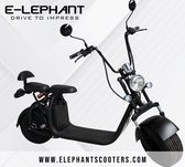 Elephant - Elektrische Scooter - 25km/h - Actieradius 30km - Zwart