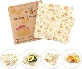 Beeswax food wraps| 3 stuks | Bijenwas doek | Herbruikbaar en duurzaam