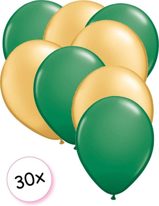 Ballonnen Groen & Goud 30 stuks 27 cm