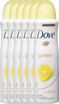 Dove go fresh grapefruit Women  - 150 ml - deodorant spray - 6 st - Voordeelverpakking