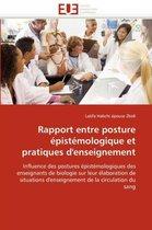 Rapport Entre Posture �pist�mologique Et Pratiques d'Enseignement