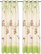Kindergordijnen verduisterend 140x240 cm meerkleurig 2 st