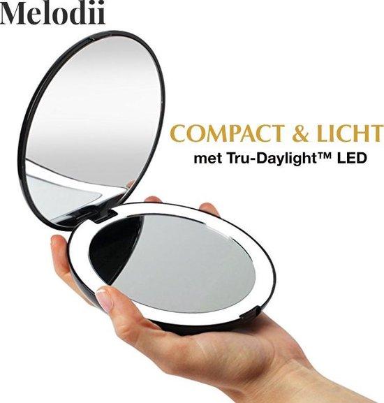 Compact Make-up Spiegel met Tru-Daylight Verlichting - 10x Vergroting
