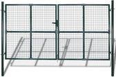 vidaXL Dubbele tuinpoort hekwerk gepoedercoat staal