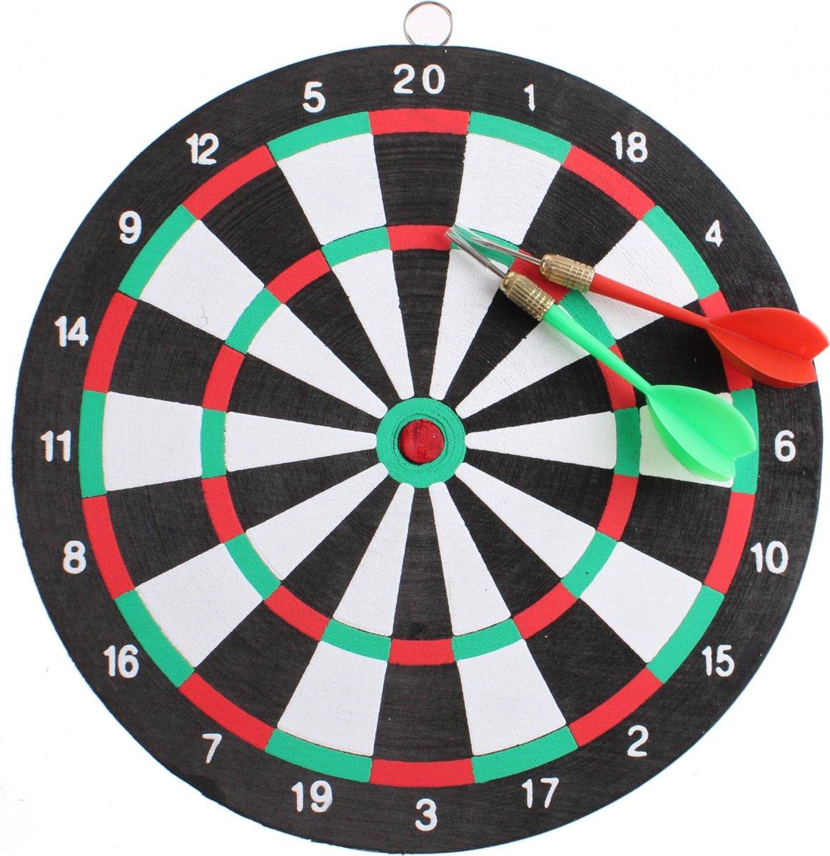 Master Darts Dartbord 24 Cm Met 2 Pijlen