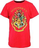 Harry Potter Harry Potter Hogwarts Embleem Kinder T-Shirt Rood Unisex T-shirt 128