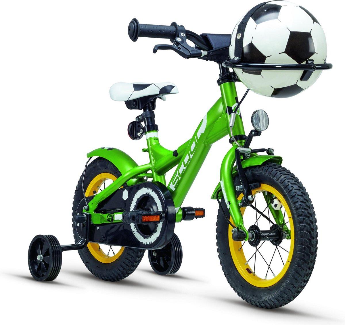 S'cool Kinderfiets 12 inch  XXlite steel soccer 12 green matt online kopen