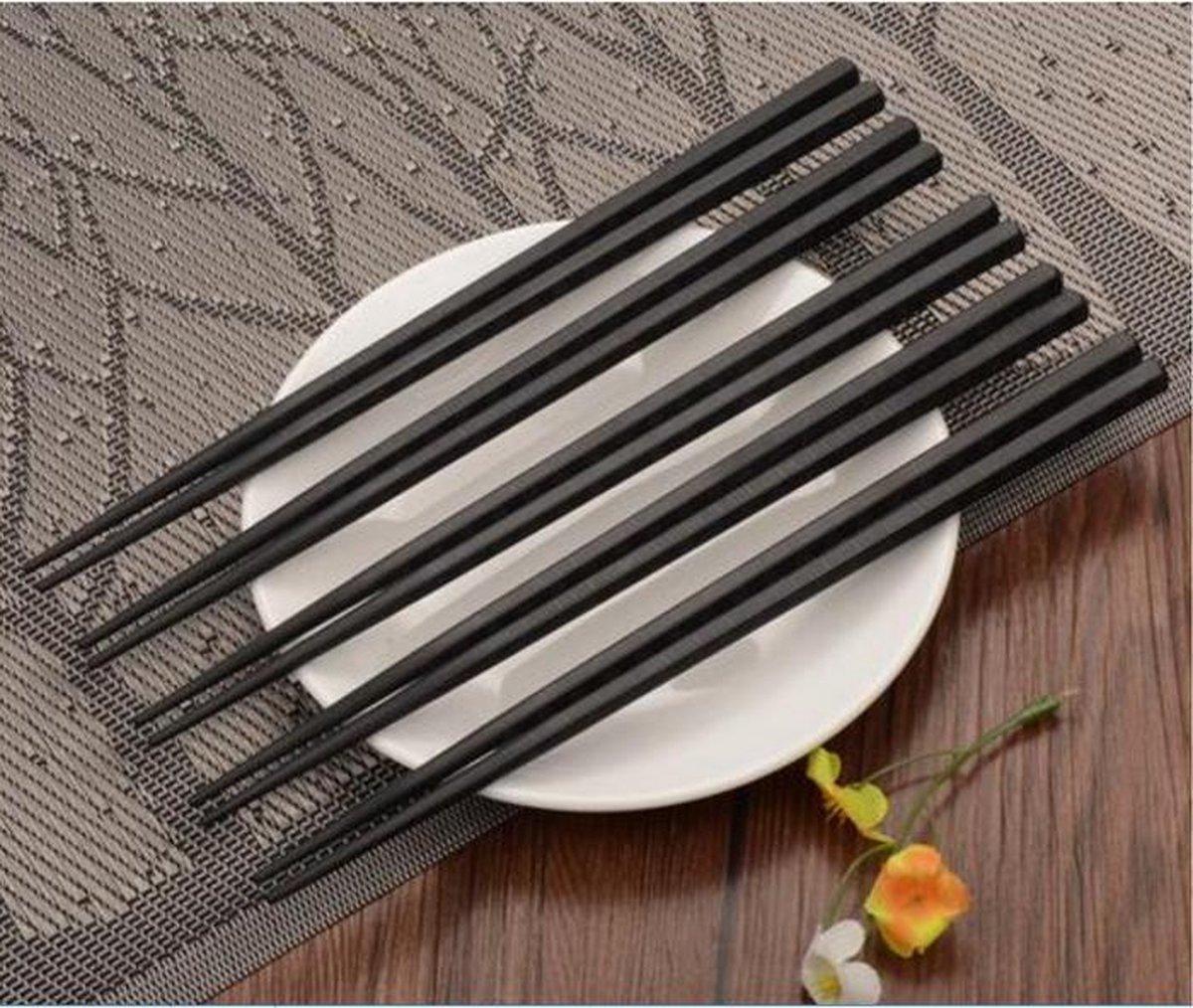 Eetstokjes - Zwart - Chopsticks - Sushi - Luxe uitvoering- 4 paar