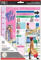 Me and My Big Idea's - Happy Planner X RongRong - Medium Accessoireset - Hustle Girl - 98stuks