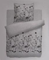 Noblesse Collection Flora Dekbedovertrek - Eenpersoons - 135x200 + 80x80 cm - Wit