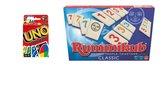 Gezelschapsspel - Uno & Rummikub - 2 stuks
