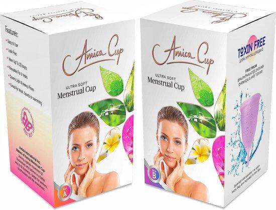 AmicaCup Herbuikbare Menstruatiecup - Large - geen chemicalien en toxinen - Pink