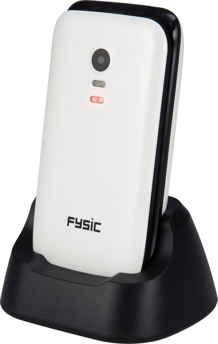 Fysic FM-9710WT Senioren mobiele klaptelefoon – SOS Noodknop, Camera 1.3 megapixel, Grote toetsen
