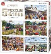 King 5in1 Classic Collection - legpuzzel - 1000 stukjes