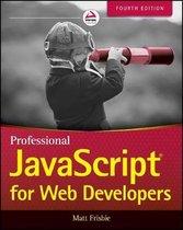 Boek cover Professional JavaScript for Web Developers van Matt Frisbie (Paperback)