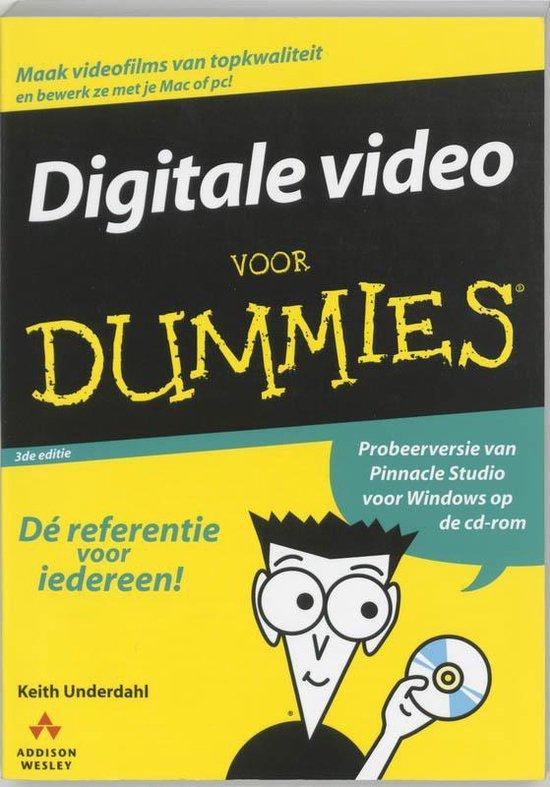 Cover van het boek 'Digitale video voor Dummies + CD-ROM'
