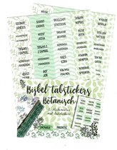 Bible Journaling Bijbel Tab stickers botanisch ByKris