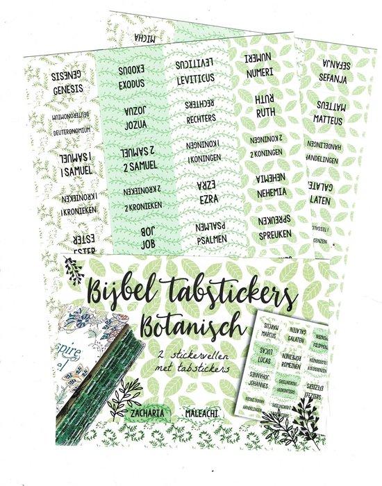 Bible Journaling Bijbel Tab stickers botanisch ByKris