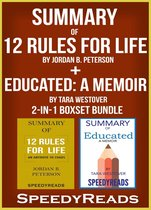 Omslag Summary of 12 Rules for Life: An Antidote to Chaos by Jordan B. Peterson + Summary of Educated: A Memoir by Tara Westover 2-in-1 Boxset Bundle