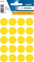 Herma 1871 Etiket Rond 19mm Geel pakje met 5 velletjes stickers
