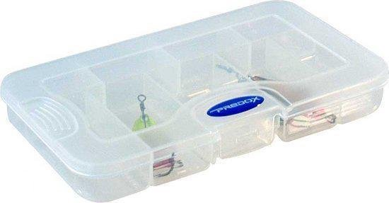 Predox T&G Tainer - Tacklebox - 16.5 x 9 x 2.5 cm - Transparant