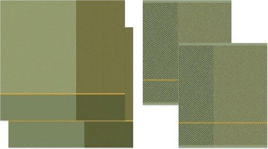 DDDDD Blend - 2x Theedoek & 2x Keukendoek - Olive Green