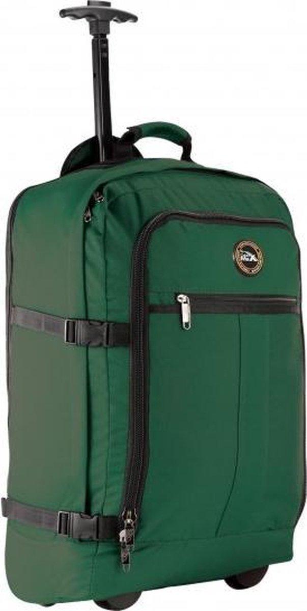 CabinMax Rugzaktrolley - Handbagage 44L -  55x40x20 cm - Lyon - Groen (LYON HGN)