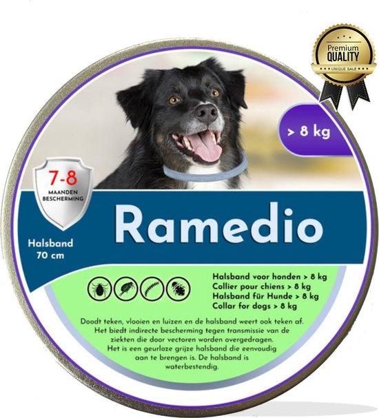 Ramedio dé diervriendelijke anti vlooien en tekenband voor een grote hond | 8 maanden bescherming | vlooienband