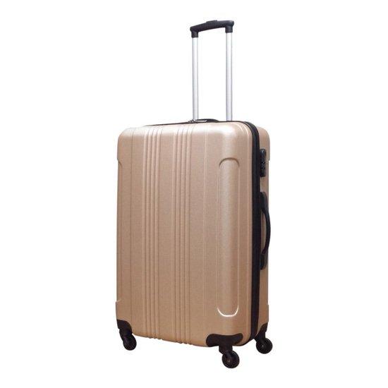 Travelz - Kofferset 4 delig - Afneembare wielen - Champagne - Castillo