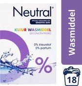 Neutral 0% Kleur Parfumvrij Waspoeder - 18 wasbeurten - 1,188 kg - Wasmiddel
