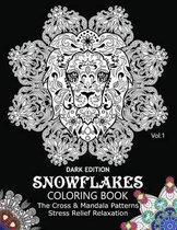 Snowflake Coloring Book Dark Edition Vol.1