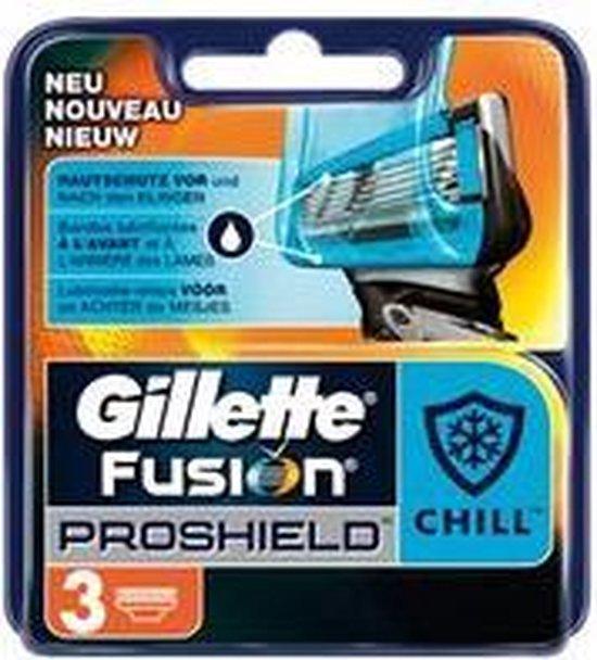 Gillette Fusion ProShield Mesjes Chill 3 stuks