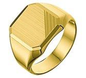 The Jewelry Collection For Men Graveerring Mat Gediamanteerd - Goud