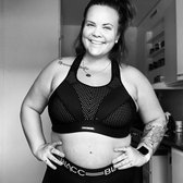 sportbh dames -De beste sport beha- 75F incredible Zwart