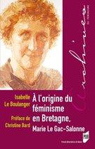 À l'origine du féminisme en Bretagne, Marie Le Gac-Salonne