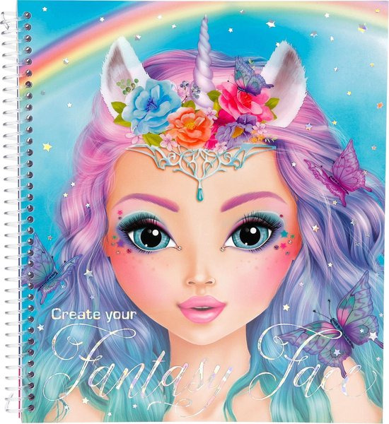 Top Model - Fantasy Face Coloring Book (045298 ) /Arts and Crafts - Depesche