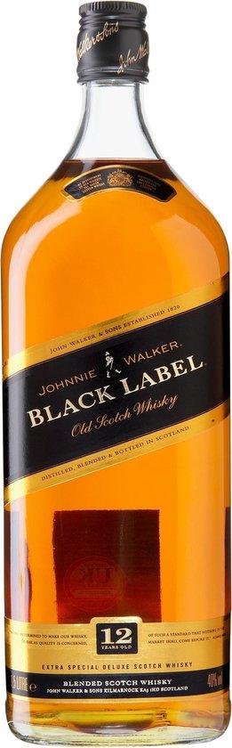Johnnie Walker Black Label Whisky - 1 x 1,5 L