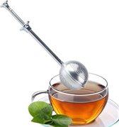 Theefilter - Thee ei - Tea infuser - Kruidenbol - Theezeef - Losse Thee - Thee drinken - Tea Infuser met schuifknop - 5 x 18 cm - Theeaccessoire - Theezak houder