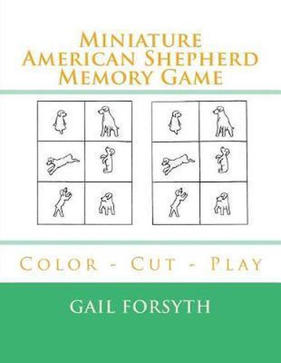 Miniature American Shepherd Memory Game