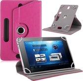 9 inch tablet hoes 360 graden draaibaar pink universeel