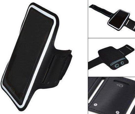 Comfortabele Smartphone Sport Armband voor uw Nokia Asha 503, Zwart, merk i12Cover