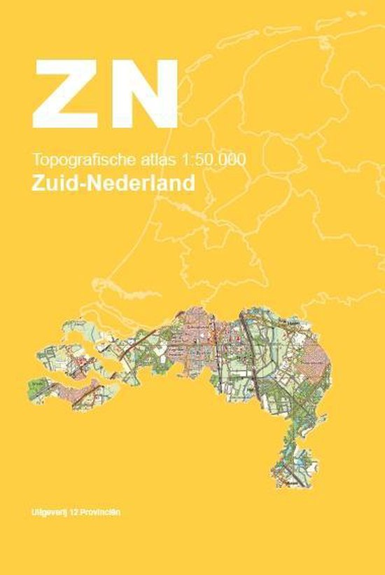 Topografische Atlas Nederland - Topografische Atlas 1:50.000 Zuid-Nederland - none |