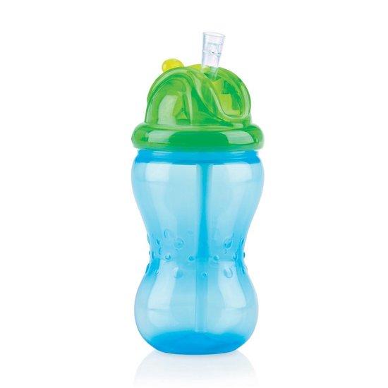 1P- 355ml Flip-it - drinkbeker met antilek rietje